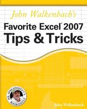 Cover of: John Walkenbach's Favorite Excel 2007 Tips & Tricks (Mr. Spreadsheet's Bookshelf)