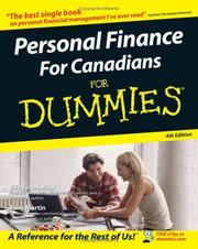 Cover of: Personal finance for Canadians for dummies