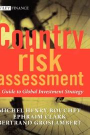 Cover of: Country risk assessment