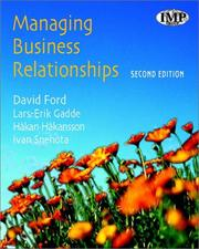 Cover of: Managing Business Relationships