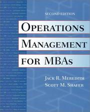 Cover of: Operations Management for MBAs, 2nd Edition