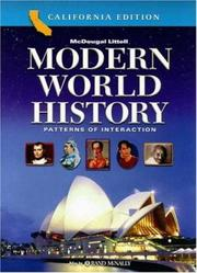 Cover of: Modern World History Patterns of Interaction California Edition