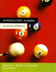 Cover of: Introductory Algebra