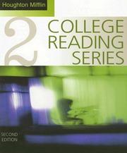 Cover of: Houghton Mifflin College Reading Series, Book 2