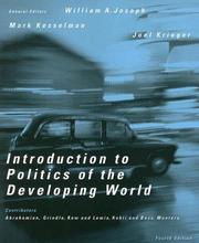 Cover of: Introduction to Politics of the Developing World