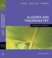 Cover of: Algebra and Trigonometry A Graphing Approach