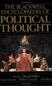 Cover of: Blackwell Encyclopedia of Political Thought (Blackwell Reference)