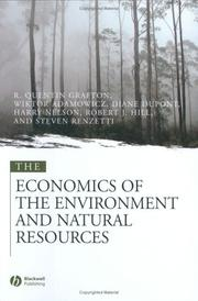 Cover of: Lectures of the Environmental and Natural Resources