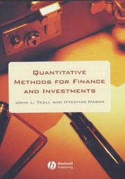 Cover of: Quantitative Methods for Finance and Investments