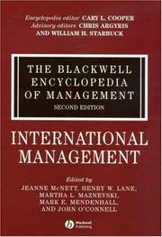 Cover of: International Management (Blackwell Encyclopedia of Management)