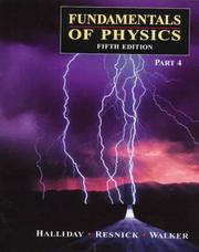 Cover of: Fundamentals of Physics, 5th edition - Part 4