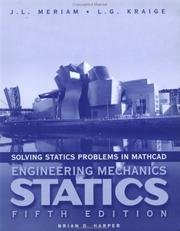 Cover of: Solving Statics Problems with MathCAD