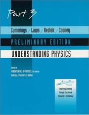 Cover of: Cummings, Understanding Physics -Preliminary Part 3