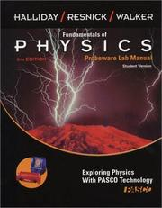 Cover of: Fundamentals of Physics, , Probeware Lab Manual/Student Version