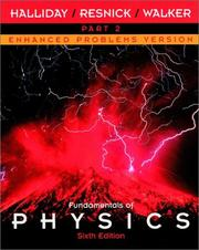Cover of: Fundamentals of Physics, Part 2, Chapters 13 - 21 , Enhanced Problems Version