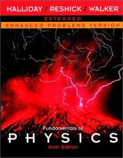 Cover of: Fundamentals of Physics, Extended, Chapters 1 - 45 , Enhanced Problems Version