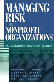Cover of: Managing risk in nonprofit organizations