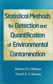 Cover of: Statistical Methods for Detection and Quantification of Environmental Contamination