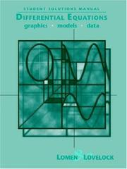 Cover of: Differential Equations