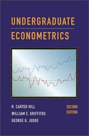 Cover of: Undergraduate Econometrics