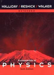 Cover of: Extended , Fundamentals of Physics