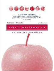 Cover of: Student Solutions Manual to accompany Finite Mathematics