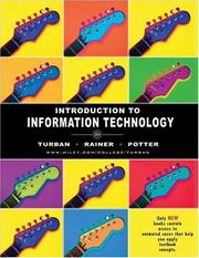 Cover of: Introduction to Information Technology