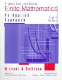 Cover of: Finite Mathematics, Student Solutions Manual