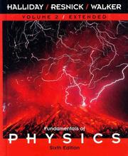 Cover of: Volume 2, Chapters 22-45, Fundamentals of Physics