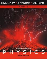 Cover of: Fundamentals of Physics, Part 2, Chapters 13-21