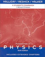 Cover of: A Student's Companion to Accompany Fundamentals of Physics 6th Edition, Includes Extended Chapters