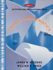 Cover of: Today's Mathematics, Part 2, Activities and Instructional Ideas, 10th Edition