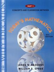 Cover of: Today's Mathematics, Part 1, Concepts and Classroom Methods, 10th Edition