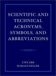 Cover of: Scientific and Technical Acronyms, Symbols and Abbreviations