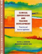 Cover of: Clinical Supervision and Teacher Development