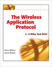 Cover of: The Wireless Application Protocol (WAP)