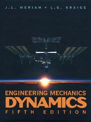 Cover of: Engineering Mechanics  , Dynamics (Engineering Mechanics)