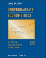 Cover of: Undergraduate Econometrics, Using Excel For