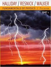 Cover of: Fundamentals of Physics, Part 1 (Chapters 1-11)