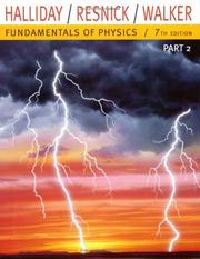 Cover of: Fundamentals of Physics, Part 2 (Chapters 1220)