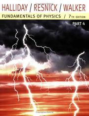 Cover of: Fundamentals of Physics, Part 4 (Chapters 33-37)
