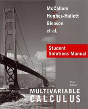 Cover of: Calculus, Multivariable, Student Solutions Manual