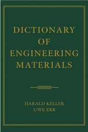 Cover of: Dictionary of Engineering Materials