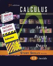 Cover of: Calculus Early Transcendentals