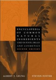 Cover of: Encyclopedia of Common Natural Ingredients