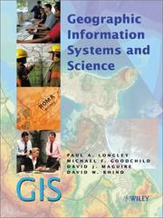 Cover of: Geographic Information Systems and Science