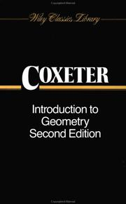 Cover of: Introduction to Geometry