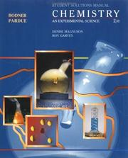 Cover of: Chemistry, Solutions Manual