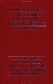 Cover of: Introduction to the Theory and Practice of Econometrics, 2nd Edition