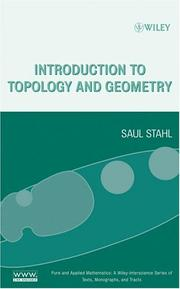 Cover of: Introduction to Topology and Geometry